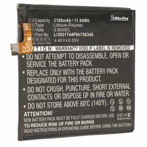 Akku kompatibel mit ZTE Li3931T44P8h756346 - Li-Polymer 3100mAh - für Axon 7, Grand X4, Blade V8 Pro, Spark, A2017U, BV8P121, Z956, Z971, Z978