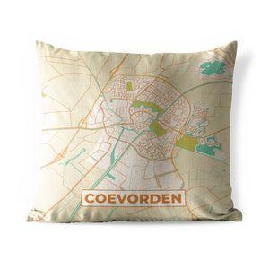 Outdoor Kissen - Grundriss - Coevorden - Vintage - 40x40 cm - Wetterfest - Lounge Kissen