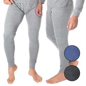 BlackSnake® 2-er Set Herren Thermounterhose - Extra warm und weich durch Innenfleece - XXL - Grau