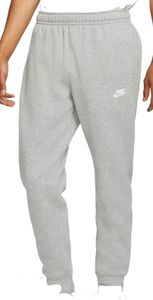 Nike Herren Fitnesshose Sporthose Trainingshose M NSW CLUB JOGGER BB grau weiss, Größe:M