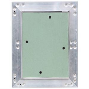 Revisionsklappe Revisionstür Aluminium-Rahmen Gipskarton Revisionstür 15x20 cm V2Aox
