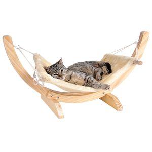 Cat Relax beige Katze Hängematte Katzenliege Katzenbett Liegemulde Schlafplatz