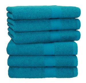 Betz 6 Stück Handtücher PALERMO 100% Baumwolle Handtuch-Set,   Farbe  petrol