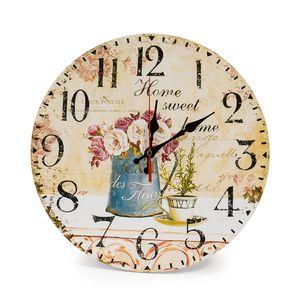 LOHAS Home 30CM MDF Wanduhr/Küchenuhr im Landhausstil Stille Nicht-tickende Vintage mit lautlosem Uhrwerk für die Küche,Home Office, Wohnzimmer und Schlafzimmer
