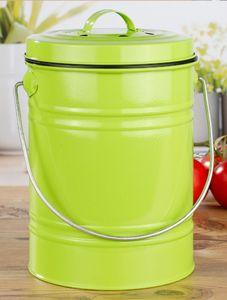 Kücheneimer für Bioabfälle Mülleimer Abfallbehälter Komposteimer Abfallsammler, Farbe:hell Grün