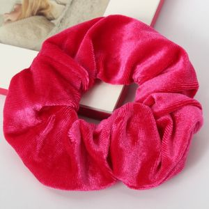 XXL Velour Samt Haargummi Zopfgummi Haarband Pferdesschwanz Scrunchie Pink