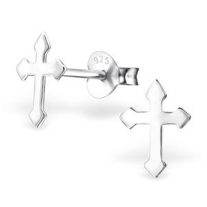 Ohrstecker Kreuz 925 Silber Damen