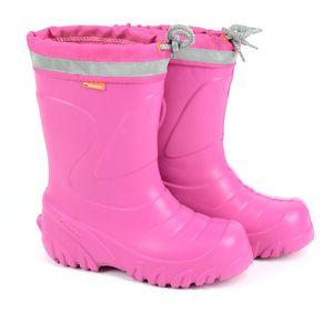 DEMAR Kinder Gummistiefel  Winterstiefel Regenstiefel Kinderstiefel Gefüttert ROSA Größe 32/33