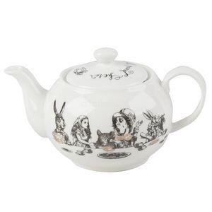 Teekanne ALICE IN WONDERLAND für 450ml schwarz weiß Creative Tops