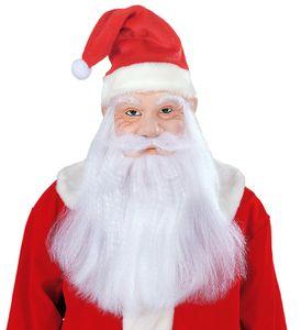 Weihnachtsmann Maske mit Bart &  Mütze