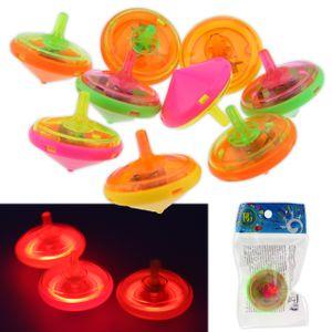 Kreisel LED Lichteffekt Leuchtend Spinning Bunt Mitgebsel 4,5 cm Beutel
