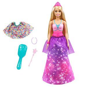 Barbie Dreamtopia 2-in-1 Prinzessin & Meerjungfrau Puppe, Anziehpuppe