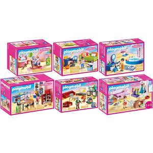 PLAYMOBIL 70206-07-08-09-10-11 Dollhouse 6er Set A