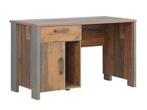 Schreibtisch CLIF 1-trg. 1 Schublade Optik: Old Wood Vintage von Forte