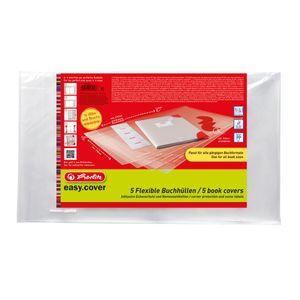 5 Herlitz Buchumschläge / Buchschutzhüllen / Buchhüllen / flexible Größe