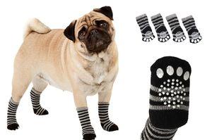 Karlie Hundesocken Sockies schwarz-grau 4er Pack versch. Größen, Größe:XS