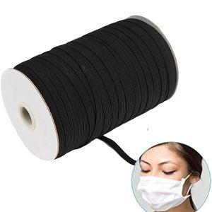 Gummiband schwarz zum nähen Gummischnur elastische Gummikordel Elastic Band für Armbänder Schmuck DIY Handwerk (5mm*91.4m)