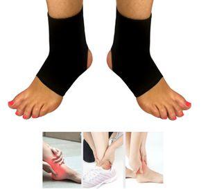 2er Set Universal Knöchelbandage | Fußgelenkbandage | Knöchel Bandage - Farbe schwarz | Schoner Knöchelschoner | Fußbandage zur Stabilisierung des Knöchels Fußbandagen für Damen & Herren Sport Verband