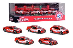 MAJORETTE FC BAYERN CARS GESCHENKSET (5 TEILIG) - Spielwaren