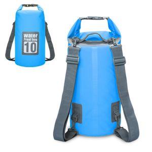 Drybag wasserdichter Seesack, Rollbeutel, Rucksack, Wassersack - türkis, 10L