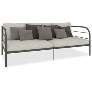 SIRUITON Tagesbett-Rahmen Grau Metall 90X200 cm