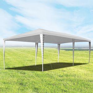 Hengda Pavillon 3x6m Gartenzelt UV-Schutz Hochwertiger weiß Partyzelt ohne Seitenteilein Gartenpavillon für Festival Hochzeit Garten Terrasse