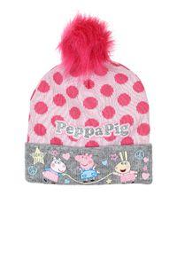 Peppa Wutz Winter-Mütze Bommel Mütze Grau, Größe:52