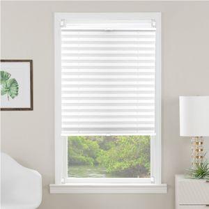 i@home Plissee - 120cm breit - Weiß Klemmfix - ohne Bohren, Lichtschutz und Sichtschutz