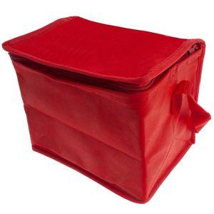 Mini Kühltasche Kühlbox Isoliertasche Thermotasche Reisetasche Camping Outdoor Isolierbox Picknicktasche faltbar klein - rot