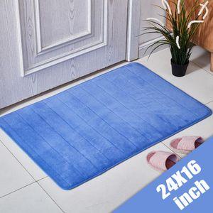 Rutschfeste Fußmatte Memory Foam Kleine Teppiche Outdoor Indoor Home Küche Teppichmatten Badematte Blau