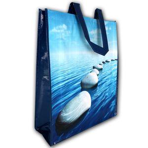 Tragetasche - Strandtasche - Shopper - Badetasche - Einkaufstasche XL Blau