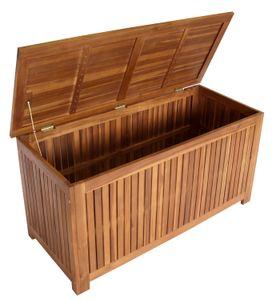 DEGAMO Auflagenbox Kissenbox Garten Kissentruhe ST. VINCENT 117cm, Akazie geölt,