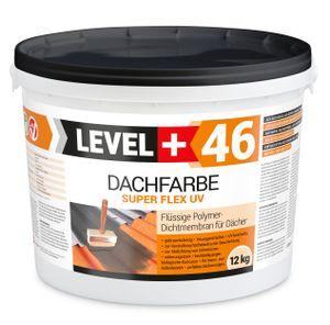 Dachfarbe und Sockelfarbe flexibler Dachlack Polymermembran  Schutzanstrich Ziegelrot 12kg RM46