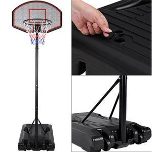 DEUBA Basketballkorb Wettkampfhöhe Ring einstellbar 257-305cm rollbarer XL Standfuß Basket Ball Set aus Metall