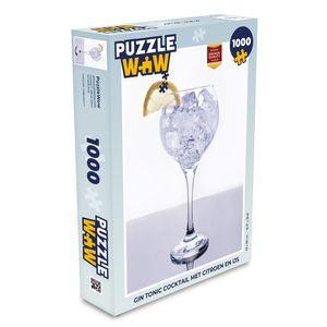 Puzzle 1000 Teile - Gin-Tonic-Cocktail mit Zitrone und Eis