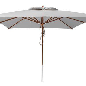 anndora Sonnenschirm 4x4 m - grau - Silber Grau