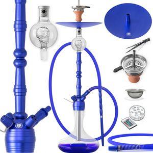 DILAW® Shisha MANYAK 93cm Komplettset Aluminium Alu Wasserpfeife Hookah, Farbe:Blau