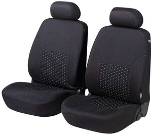 Walser Autositzbezug DotSpot Premium für Vordersitze grau/schwarz, 11938