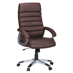 AMSTYLE Bürostuhl VALENCIA Kunstleder Braun ergonomisch mit Kopfstütze | Design Chefsessel Schreibtischstuhl mit Wippfunktion | Drehstuhl hohe Rücken-Lehne X-XL 120 kg