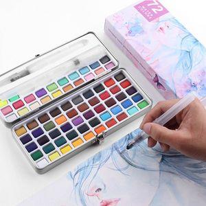 Aquarellfarben Set, Aquarell Malkasten Inklusive 50 Farben, wasserlöslich und gut mischbar Aquarell-Farben-Set für Kinder und Erwachsene