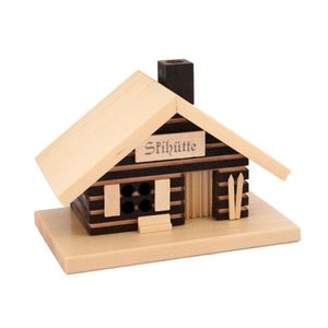 "KNOX Räucherhaus ""Skihütte"" aus Holz - Größe ca. 9,0 x 11,0 x 9,0 cm"