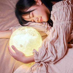 Mond Lampe  LED Nachtlicht, 3D 11cm Mondlampe fš¹r schlafzimmer deko Weihnachtsdekora