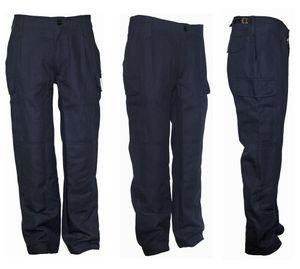 Supertolle derbe Herren Arbeitshose Bundhose Hose dunkelblau, Größe:58