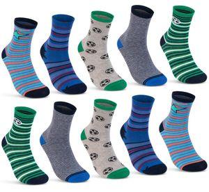 10 Paar Kinder Socken Jungen Baumwolle Kindersocken 54375 - Farbmix 31-34