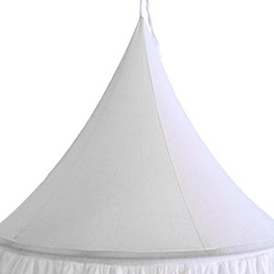 Kinder Kinderbett Baldachin Bettdecke Moskitonetz Vorhang Bettwäsche Kuppelzelt Stil 1-weiß wie beschrieben
