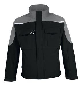 pka Unisex Softshell-Jacke bestwork New BWSJ Mehrfarbig schwarz/grau L