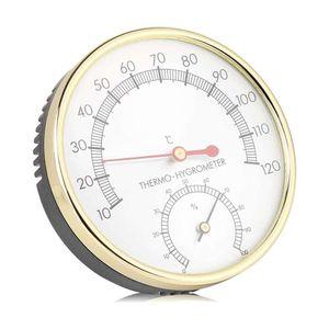 Mllaid  Hygrometer Thermometer, Metallzifferblatt Innenthermometer Hygrometer Hygro-Thermometer Saunazubehör