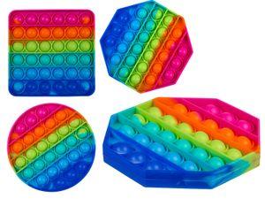 Fidget Pop Toy Rainbow Anti Stress Bubble Pop Trend Push it geometrische Form
