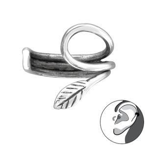 1 Stück Ear Cuff 925 Sterling Silber Ohrklemme mit Blatt Ohrschmuck Ohrring