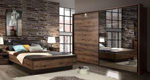 Schlafzimmer komplett 3-teilig Doppelbett 180x200cm Script-Schlammeiche